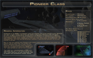 Pioneer Class Spec Sheet by Majestic-MSFC
