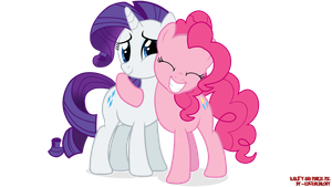 Rarity and Pinkie Pie (update) by EugeneBrony