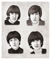 The Beatles by Loony-Lucy