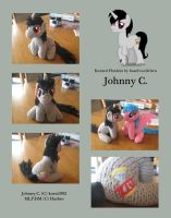 Knitted Plushies - Johnny C. (OC) by haselwoelfchen
