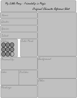 MLP OC Reference Sheet Template by Fangirl-For-Fun