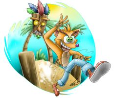 Crash Bandicoot by sapphireweasel25