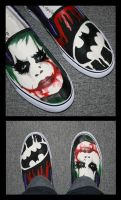 Why so serious? Joker shoes by Stephy-McFly