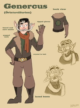Lazytown OC - Genercus by Crescent-Mond