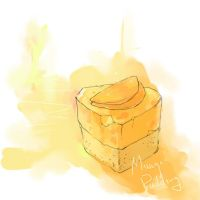 Mango Pudding Cake by luthienelf
