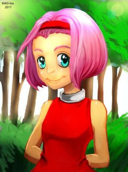 Humanized Amy Rose by MAD-Ina