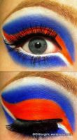 Bright orange and blue makeup :) by GlitterGirlC