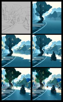 Summer street process by cloudintrousers