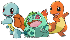 The Kanto Starters by Tails19950