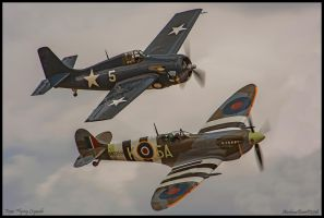 Wildcat and Spitfire by AirshowDave