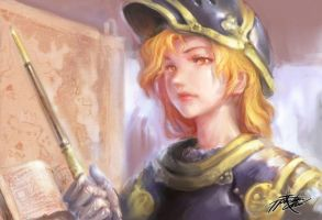 Female Tactician by ptcrow