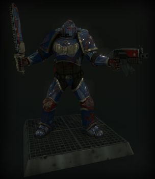 Crimson Fist Space Marine by dan-cable