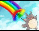 Tonari no Totoro : Rainbow by Eternal-S