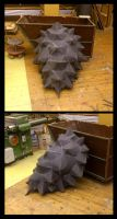 Alligator snapping turtle shell - WIP by ZombieArmadillo