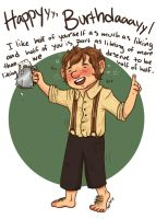 Bilbo, you're drunk. by Robynium