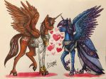 Commission - Courageous Heart and Galaxia by Drago-Draw