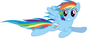 Rainbow Dash flying by by Stabzor