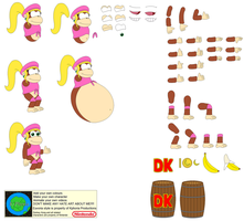 Character Builder-Dixie Kong by Kphoria