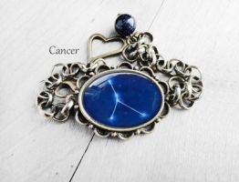 Handmade Resin Cancer Constellation Bracelet by crystaland