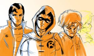 Warm up sketch: Young Justice by Julianlytle