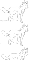 Free wolf lineart by tootflap
