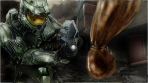 halo elite battle by chrisdealpainter