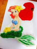 Little Mermaid Cake by Michael-GoldenHeart