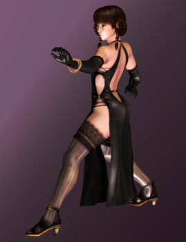 Leifang - Black Dress Chi Ch'uan - 06 by HentaiAhegaoLover