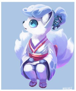 Snow Vulpix by Magiace