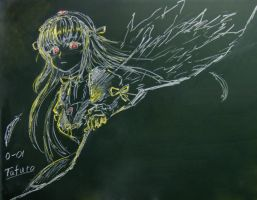 Suigintou in Blackboard by tafuto001