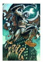 Moon knight pin up colos by FrancescoGerbino