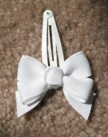White Clip Bow-2 by liz-stock