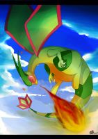 Flygon used Flamethrower! by vullabys