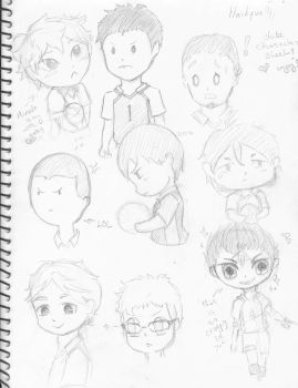 Sketchdump-Haikyuu Chibis by known-by-many-names