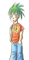 Coloured Pencil Boy by Mirlin