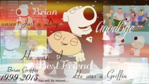 Goodbye Brian Griffin 1999-2013 by bloomxstella