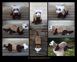 Plushie Commission: Annie the Ferret by Avanii