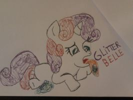 Holiday sketches: Glitter Belle by cottoncloudyfilly