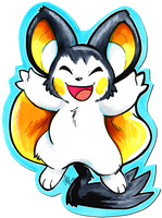 Cutout Emolga by raizy
