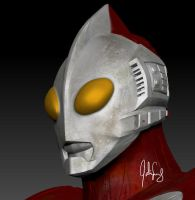 Ultraman 3D Texture Close-up by manguy12345
