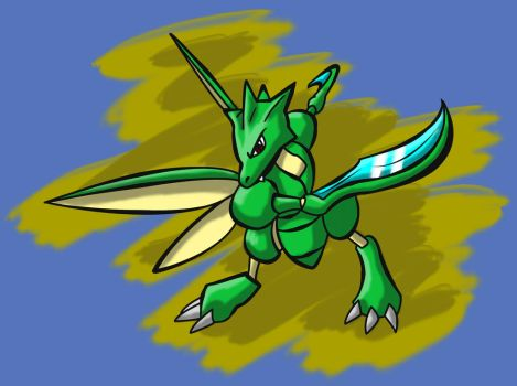 Scyther by danteshinobi