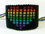 Black Rainbow Heart Friendship Bracelet by QuietMischief