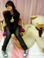 Punk on a Pink Room with Bear by petraleao