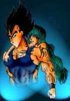 Vegeta and Bulma by scrik