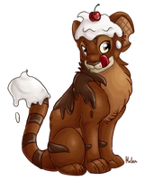 Chocolate Kougra by Draxorr
