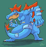 Feraligatr for Seik by cavemonster