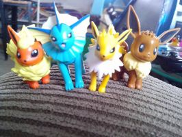 My jakks eevee collection by victoriavaporeon