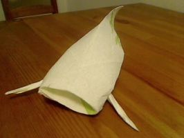 Kitchen Napkin Catfish Origami by paperluigi99