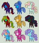Pony Adopts! ( CHEAP!!) by firemoon-niome