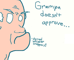 Repost:Grampa doesn't approve by the-ketchup-kommando